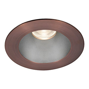 WAC Lighting HR3LEDT118PF827HCB Tesla PRO LED Round Open Reflector Trim with Light Engine 2700K Flood Beam, (80+ CRI), Haze/Copper Bronze