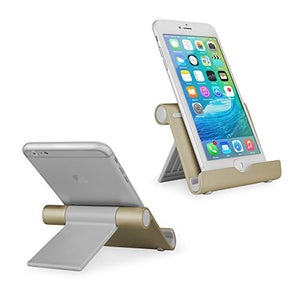 Stand and Mount, BoxWave [Universal VersaView Aluminum Stand - Champagne Gold] Portable, Multi Angle Viewing Stand for