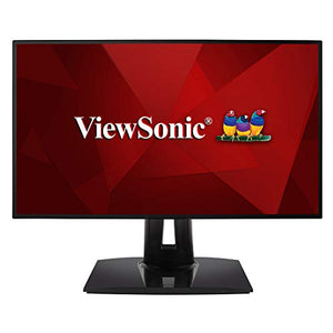 ViewSonic VP2458 Professional 24 inch 1080p Monitor with 100% sRGB Delta E<2 Color Accuracy for Home and Office , Black