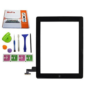 Allfix Black Touch Screen Digitizer Assembly for Ipad 2 -Includes Home Button ,Adhesive and Tools
