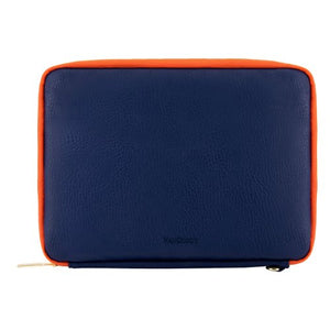 VanGoddy Blue Orange Travel Cover Sleeve Carrying Case for Kobo Clara HD, Aura H2O Edition 2, One, H2O, Edition 2