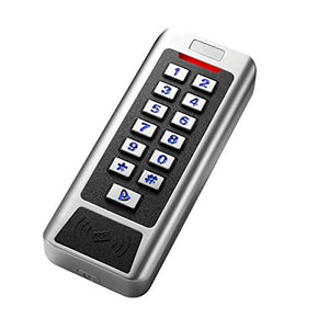 CC1 Metal Waterproof ID Card Reader with Button Keyboard for Access Control System.