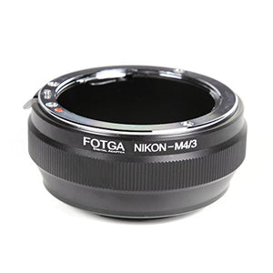 FocusFoto FOTGA Adapter Ring for Nikon Nikkor F AI Mount D/SLR Lens to Olympus Pen and Panasonic Lumix Micro Four Thirds (MFT, M4/3) Mount Mirrorless Camera Body