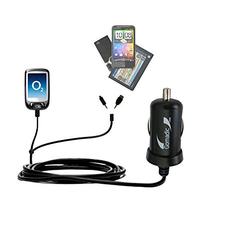 Double Port Micro Gomadic Car/Auto Dc Charger Suitable For The O2 Xda Nova   Charges Up To 2 Devices