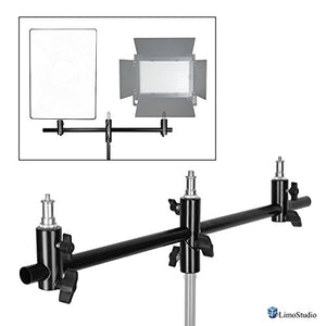LimoStudio Photo Video Studio Light Stand T-Bar Adapter, Mounting Clamp Hardware for Holding Multiple Pieces of Photography Equipment and Accessories, AGG2685