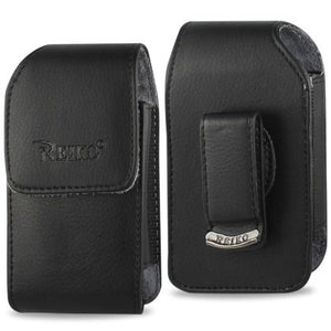 Vertical Executive Leather Case With Magnetic Closure And Swivel Belt Clip For Lg Revere 3.