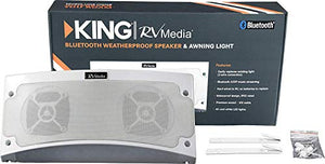 KING RVM1000 Bluetooth Outdoor Speaker with White LED Light - White