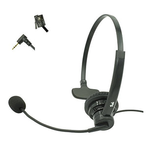 Visbr Noise Canceling Call Center Headset Compatible with Most Phones Include: Altigen at&T ATCOM Avaya Cisco Fanvil Grandstream Mitel Nortel Obihai Panasonic Polycom Shoretel Yealink with RJ9, 2.5mm