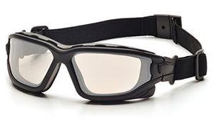 (12 Pair) Pyramex I-Force Glasses Black Strap-Temples/Indoor-Outdoor Mirror Anti-Fog Lens (SB7080SDT)