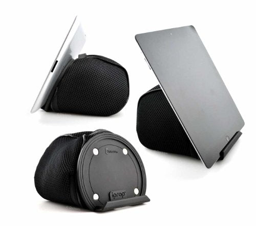iPad Bed & Lap Stand by iProp; Bean Bag Universal Tablet Holder for iPad 1/2/3/4, Mini, Air, Android and Windows Tablets, eReaders (Black)