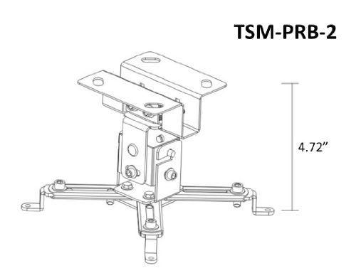 OSD Audio TSM-PRB-2 Tilt and Swivel Ceiling Mount for Projectors up to 44-pounds