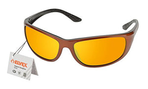 Elvex RSG201 Impact Sunglasses, Copper/Black Frame/Orange Mirror Lens