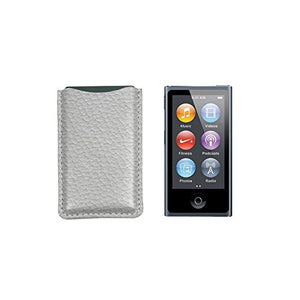 Lucrin - iPod Nano Compatible Pouch - White - Granulated Leather