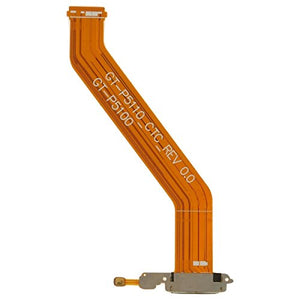 Charge Port (with Flex Cable) for Samsung Galaxy Tab 10.1, Tab 2 10.1 (Rev 0.0) with Glue Card