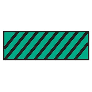 Surgical Instrument Identification Sheet Tape Diagonal Black Stripe Green