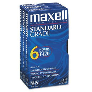 Maxell GX-Silver VHS Video Tape, 120 VHS, 3 pack (214048)