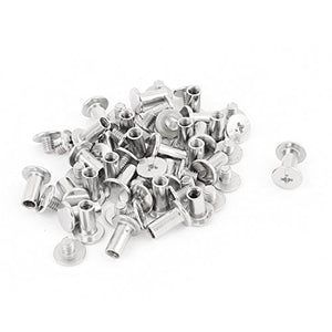 Scrapbook Photo Albums M5x10mm Nickel Plated Binding Screw Post 30pcs