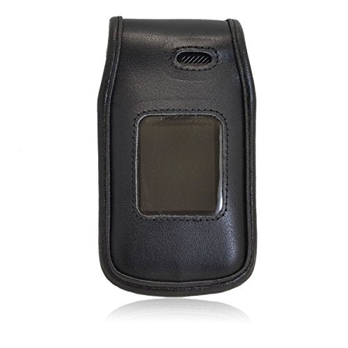 Turtleback Fitted Case Made for LG A380 Flip Phone Black Leather Rotating Removable Metal Belt Clip Made in USA