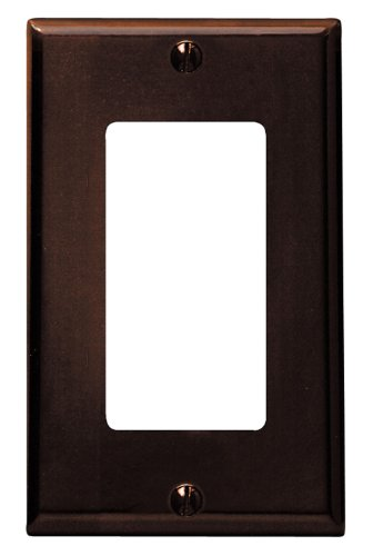 Leviton 80401 1-Gang Decora Wall Plate, 25-Pack, Brown
