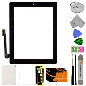 Digitizer & Home Button Assembly for Apple iPad 3 (Black) with Tool Kit