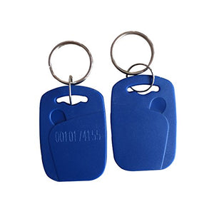 YARONGTECH-NEW RFID ID card keytag 125Khz Key Tag Keyfob Proximity Token key fobs Chain 10pcs