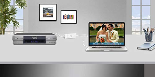 Diamond Multimedia VC500MAC USB 2.0 One Touch VHS to DVD Video Capture Device with Easy to Use Software, Convert, Edit and Save to Digital Files for MacOS