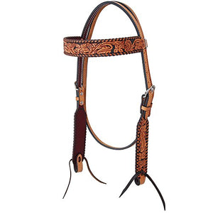 Rafter T Ranch Co Floral Tooled Browband