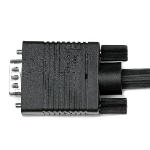 StarTech.com VGA to VGA Cable - 1 ft - HD15 M/M - Coax High Resolution - Computer Monitor Cable - Video Cable - VGA Monitor Cable (MXT101MMHQ1)