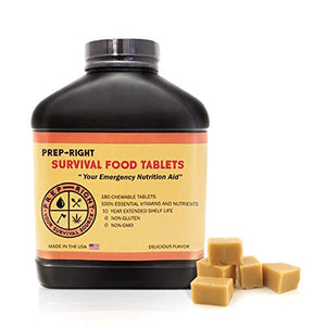 Prep-Right Survival Food Tablets - Butterscotch -