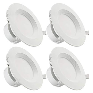 TORCHSTAR 4-Pack 6 Inch LED Recessed Downlight with Junction Box, 9W (80W Eqv.) Dimmable LED Ceiling Light Fixture, IC-Rated & Air Tight, Wet Location, 2700K Soft White, UL-Listed, 5 Years Warranty