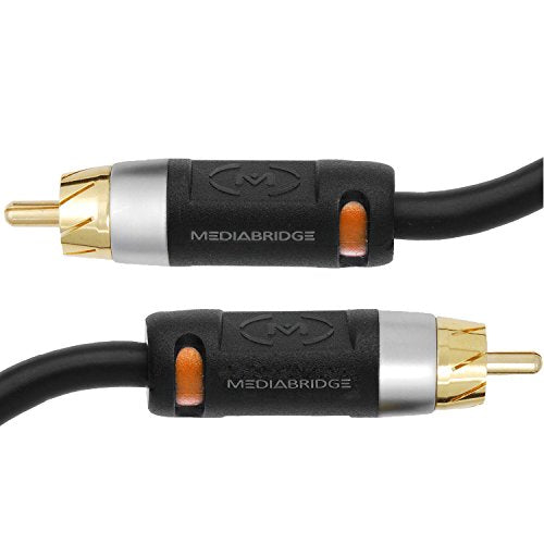Mediabridge Ultra Series Digital Audio Coaxial Cable (2 Feet) - Dual Shielded with RCA to RCA Gold-Plated Connectors - Black - (Part# CJ02-6BR-G2)