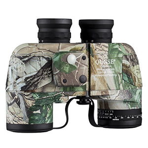 QUNSE 10x50 Military Binoculars for Adults with Range Finder and Compass, Suitable for Hunting, Bird Watching and Traveling (10x50, Army)