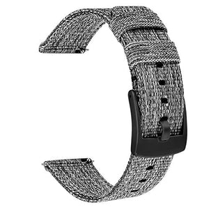 TRUMiRR Band For Samsung Galaxy Watch 20mm / Galaxy Watch 3 41mm / Active 2 40mm 44mm / Gear Sport, 20mm Quick Release Woven Nylon Watchband Stainless Steel Clasp Strap Wristband for Garmin Vivoactive