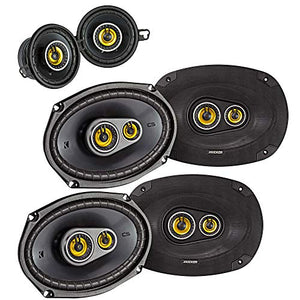 Kicker for Dodge Ram Crew Cab 2012 & up Speaker Bundle- 2-Pairs of CS 6x9 Speakers, & a Pair of CS 3.5