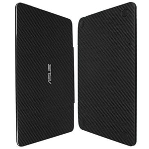Skinomi Black Carbon Fiber Full Body Skin Compatible with Asus Transformer Book T300 Chi 12.5 (Tablet and Keyboard)(Full Coverage) TechSkin with Anti-Bubble Clear Film Screen Protector
