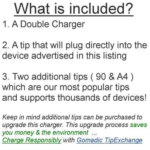 Gomadic Dual DC Vehicle Auto Mini Charger designed for the Barnes and Noble Nook 3G Wi-Fi - Uses Gomadic TipExchange to charge multiple devices in your car