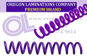 Spiral Binding Coils 7mm (9/32 x 36-inch) 4:1 [pk of 100] Purple (PMS 2592 C)