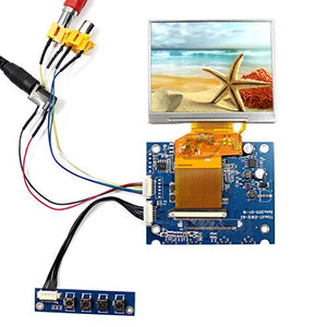 NJYTouch 2AV LCD Controller Board Kit with 3.5inch 320x240 LQ035NC111 LCD Screen