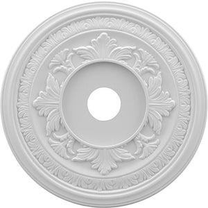 Ekena Millwork CMP22BA Baltimore Thermoformed PVC Ceiling Medallion, 22