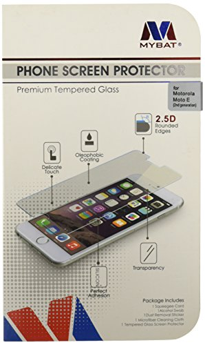 Asmyna Moto E 2nd generation Tempered Glass Screen Protector - Retail Packaging - Clear