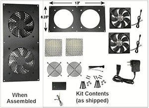 Coolerguys Dual 120mm Fan Kit With Pre Set Thermal Controller Cg 1202 P