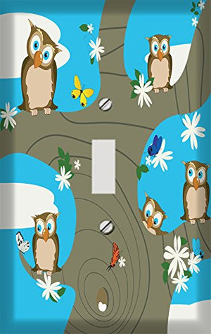 Retro Owl Tree Switchplate - Switch Plate Cover