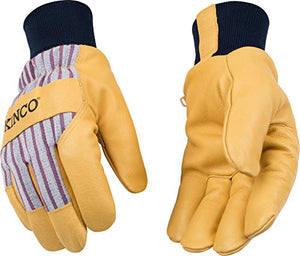 Kinco 1927 Kw Lined Premium Grain Pigskin Palm With Knit Wrist Glove