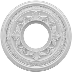 Ekena Millwork CMP10BA Baltimore Thermoformed PVC Ceiling Medallion, 10