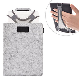 TFY Protective Carrying Pouch Bag (Grey), Plus Bonus Hand Strap Holder for 6 inch Tablets and E-Readers, fits Fire HD 6  Kindle/Kindle Paperwhite/Kindle Voyage and Other 6 E-Readers