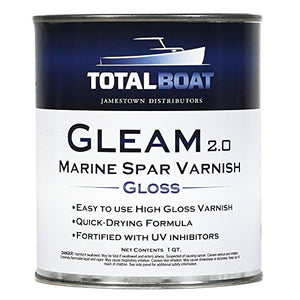 Total Boat   409314 Gleam Marine Spar Varnish (Clear Gloss Quart)