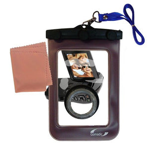 Underwater case for The Coby CAM4002 SNAPP Camcorder - Weather and Waterproof case Safely Protects Against The Elements
