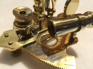 Nautical Brass Sextant ~ NO BOX ~ Sextent Astrolabe