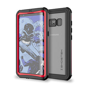 Galaxy S8 Waterproof Case, Ghostek Nautical Series for Samsung Galaxy S8 | Slim Underwater Full Body Protection Shockproof Dirtproof Snow-Proof Dust-Proof Protective Adventure Swimming Diving (Red)