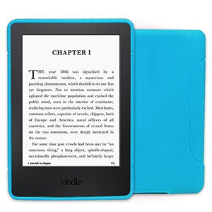 Young me All-New Kindle (7th Gen) Cover - Slim Fit TPU Gel Protective Cover Case for Amazon Kindle 6 inch (does not fit Kindle Paperwhite), Blue